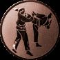 Emblem 50 mm 2 Karatekämpfer, bronze
