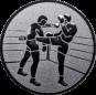 Emblem 50 mm 2 Kickboxer, silber