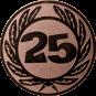 Emblem 50 mm Ehrenkranz mit 25, bronze