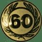 Emblem 50 mm Ehrenkranz mit 60, gold