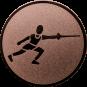 Emblem 50 mm Fechten, bronze