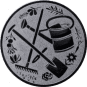 Emblem 50 mm Garten, silber