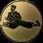 Emblem 50 mm Karatekämpfer, gold
