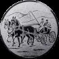 Emblem 50 mm Kutsche, silber