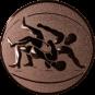 Emblem 50 mm Ringen, bronze