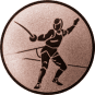 Emblem 50 mm Säbelfechten, bronze