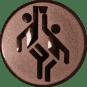 Emblem 50mm 2 Basketballer, bronze