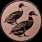 Emblem 50mm 2 Enten, bronze