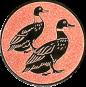 Emblem 25mm 2 Enten, bronze