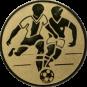 Emblem 50mm 2 Fußballer, gold