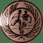 Emblem 50mm 2 Fußballer m. Ehrenkranz, bronze