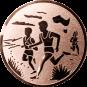 Emblem 50mm 2 Laeufer am See, bronze