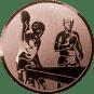 Emblem 50mm 2 Tischtennisspieler, bronze