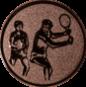 Emblem 50mm 2Tennisspieler, bronze