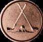 Emblem 25mm 2xGolfschläger, bronze