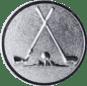 Emblem 50mm 2xGolfschläger, silber