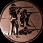 Emblem 50mm 3 Schützen s,k,l, bronze schießen