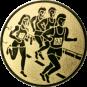 Emblem 50mm 4 Laufer, gold