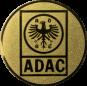 Emblem 50mm ADAC, gold