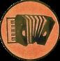 Emblem 25mm Akordion, bronze