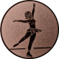 Emblem 50mm Eiskunstläuferin, bronze