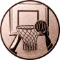 Emblem 50mm Basketball m. Korb 2, bronze