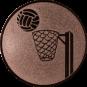 Emblem 50mm Basketball m. Korb, bronze