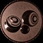 Emblem 50mm Boccia, bronze