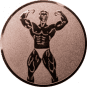 Emblem 50mm Bodybuilding männl., bronze