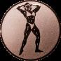 Emblem 50mm Bodybuilding weibl., bronze