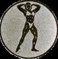 Emblem 25mm Bodybuilding weibl., silber