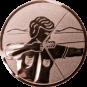 Emblem 50mm Bogenschütze rechts, bronze schießen
