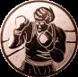 Emblem 50mm Boxer, bronze