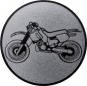 Emblem 50mm Crossbike, silber