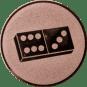 Emblem 50mm Domino, bronze