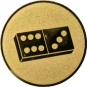 Emblem 50mm Domino, gold
