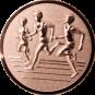 Emblem 50mm Drei Laeufer, bronze 3D
