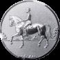 Emblem 50mm Dressurreiter 3D, silber