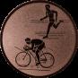 Emblem 50mm Duathlon, bronze