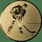 Emblem 50mm Eishockeyspieler, gold