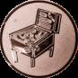Emblem 50mm Flipper, bronze
