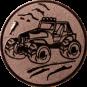 Emblem 50mm Gelände-Buggy, bronze