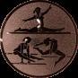 Emblem 50mm Geräteturnerin, bronze