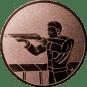Emblem 50mm Gewehrschütze links, bronze schießen