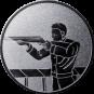Emblem 50mm Gewehrschütze links, silber schießen