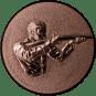 Emblem 50mm Gewehrschütze rechts 3D, bronze schießen