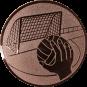 Emblem 50mm Handball mit Tor, bronze