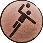Emblem 50mm Handball Symbol, bronze