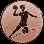 Emblem 50mm Handball Werfer, bronze