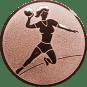 Emblem 50mm Handball Werferin, bronze
